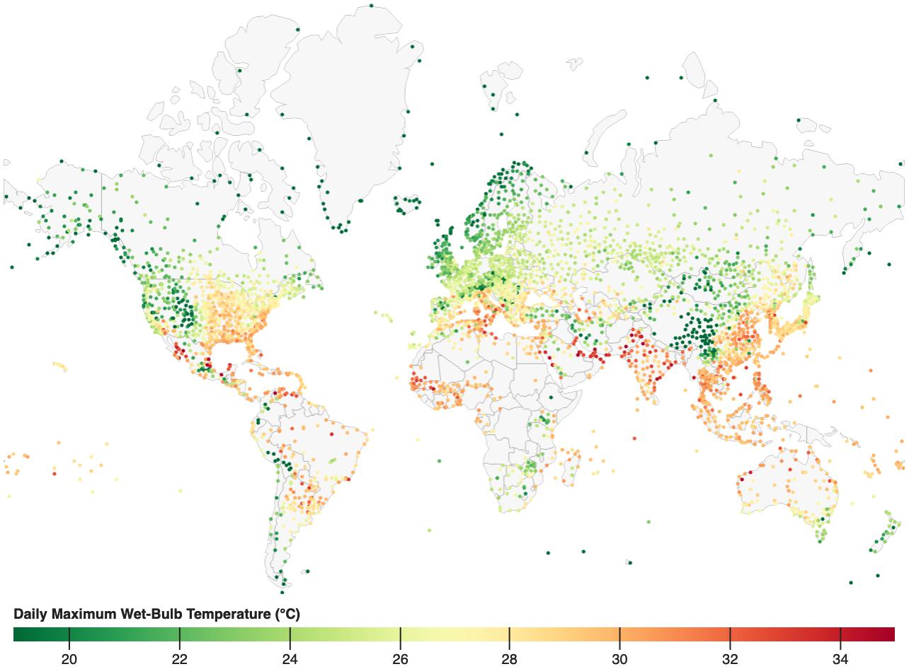 heat humidity map